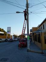 Continúa Gobierno Municipal de Xicoténcatl  Llevando Acciones para la Mejora del Alumbrado Público