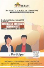IETAM Abre Convocatoria para Interesados en Candidatura Independiente para Gobernador de Tamaulipas