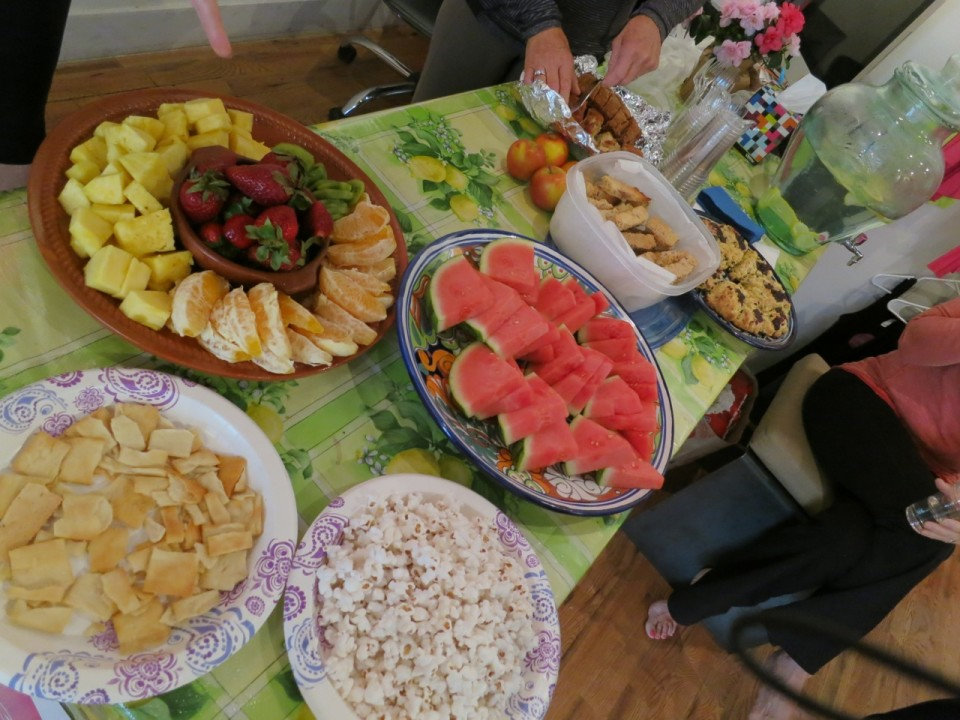 Mid morning fruit spread