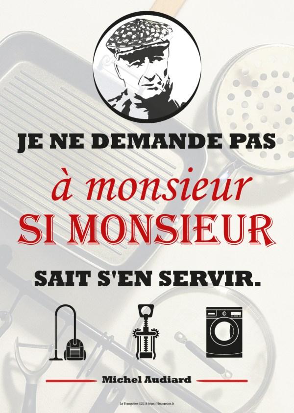 Poster citation Audiard, Les Tontons Flingueurs