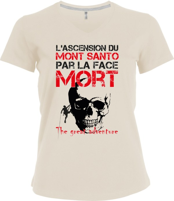 "T-shirt ""Ascension du Mont Santo"" par le Frangotier"