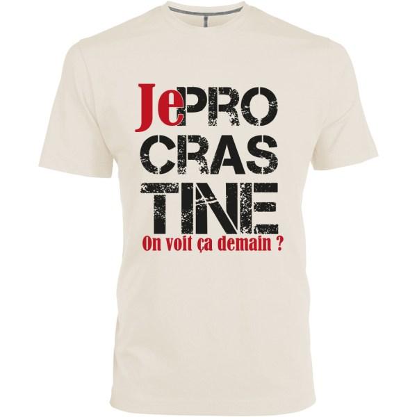 """T-shirt """"Je procrastine"""", une création du Frangotier"""
