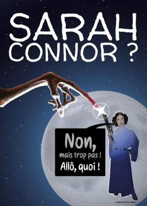 Poster Leia et E.T A3+
