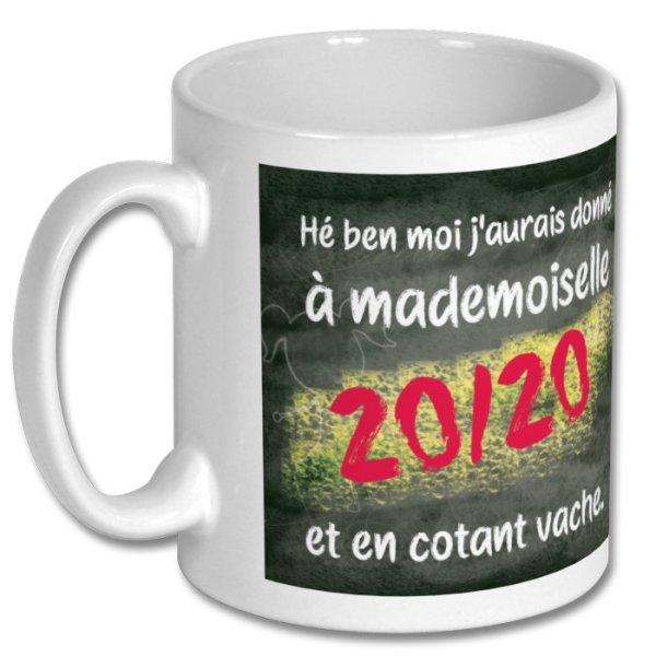 "Mug ""mademoiselle 20 sur 20"", Les Tontons Flingueurs"