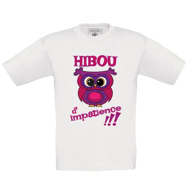 """T-shirt enfant """"Hibou d'impatience"""""""