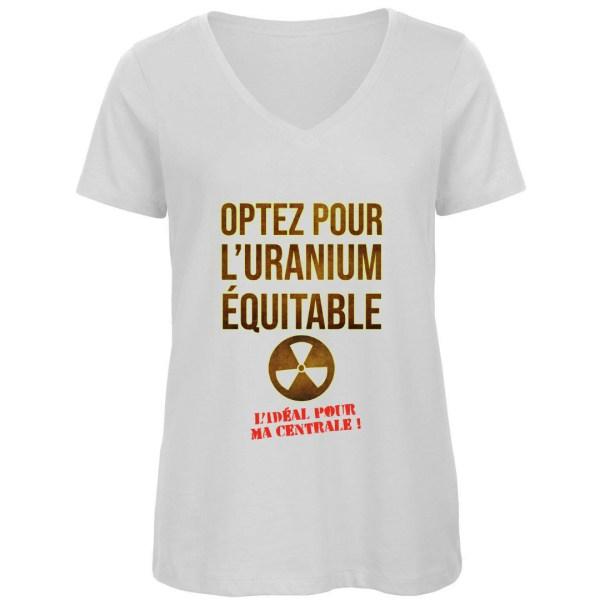 """T-shirt """"Uranium équitable"""" par Le Frangotier"""