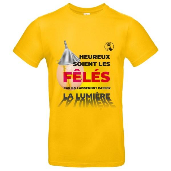 """T-shirt Audiard """"Heureux soient les fêlés..."""""""