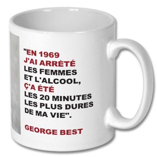"""Mug George Best """"En 1969..."""""""