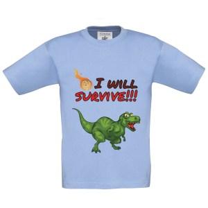 T-shirt enfant «I will survive» dinosaure