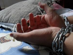 chained wrists