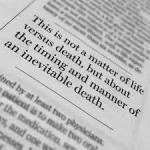 Death W Dignity newspaper