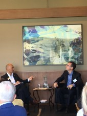 Aaron Lobel (r) and Philip Yun at Ploughshares event