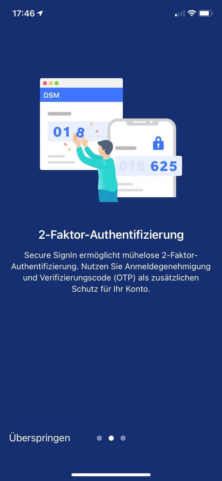DSM 7 erweitert die 2 Faktor Authentifizierung