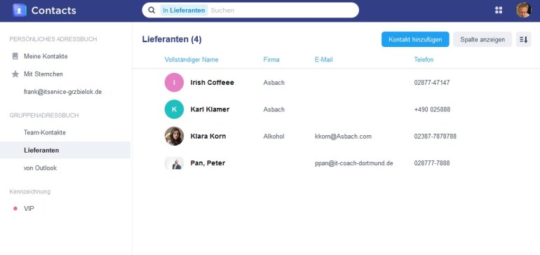 Synology Contacts Beta