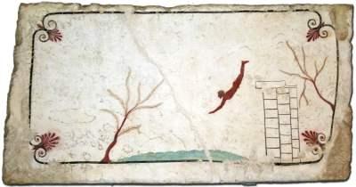 Paestum - la tombe du plongeur