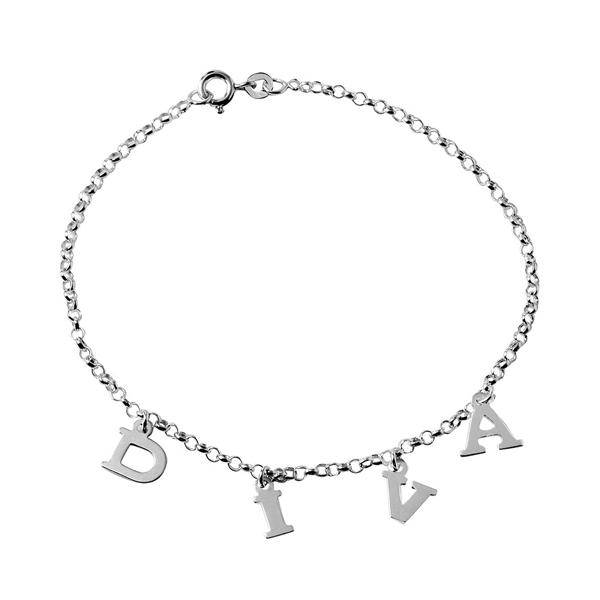 wholesale sterling silver DIVA Chain Link Anklet