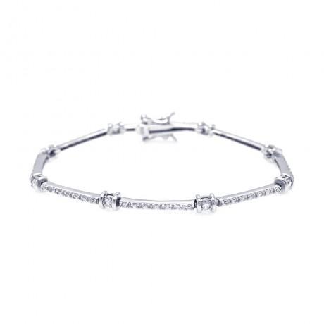 wholesale silver emerald cut cz tennis bracelet