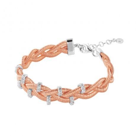 wholesale silver braided italian bracelet