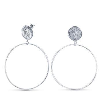 Серьги-кольца с Монетками