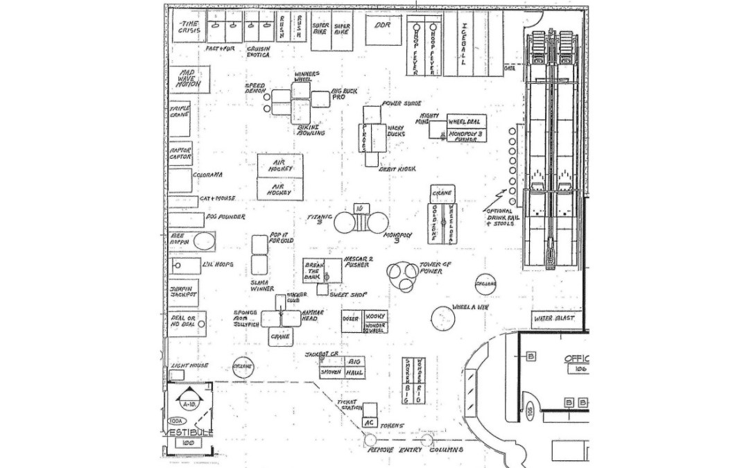 Case study the bowling alley at south shore for Bowling alley floor plans