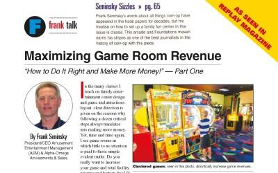Maximizing Game Room Revenue – Part 1