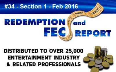 Breaking News – The Redemption & Family Entertainment Center Report – Feb 2016