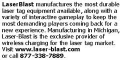 laser blast text