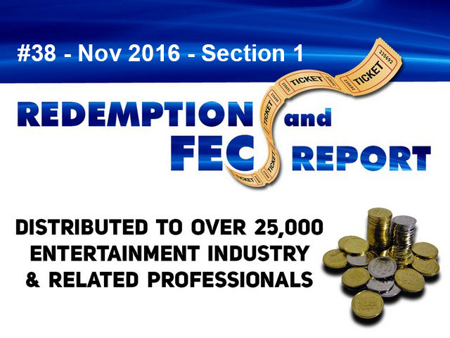 Breaking News – The Redemption & Family Entertainment Center Report – November 2016