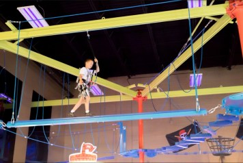 Make Believe Ropes Course with Pirate them