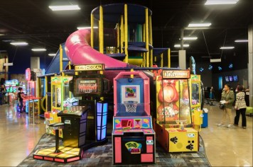 Several of the games are placed around the Ballocity