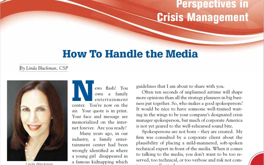 How To Handle the Media