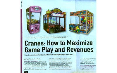 Cranes: How to Maximize Game Play and Revenues