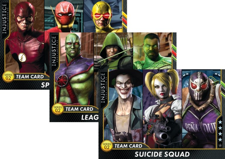 'Injustice Arcade' Series 2 New Team Cards Released by Raw Thrills