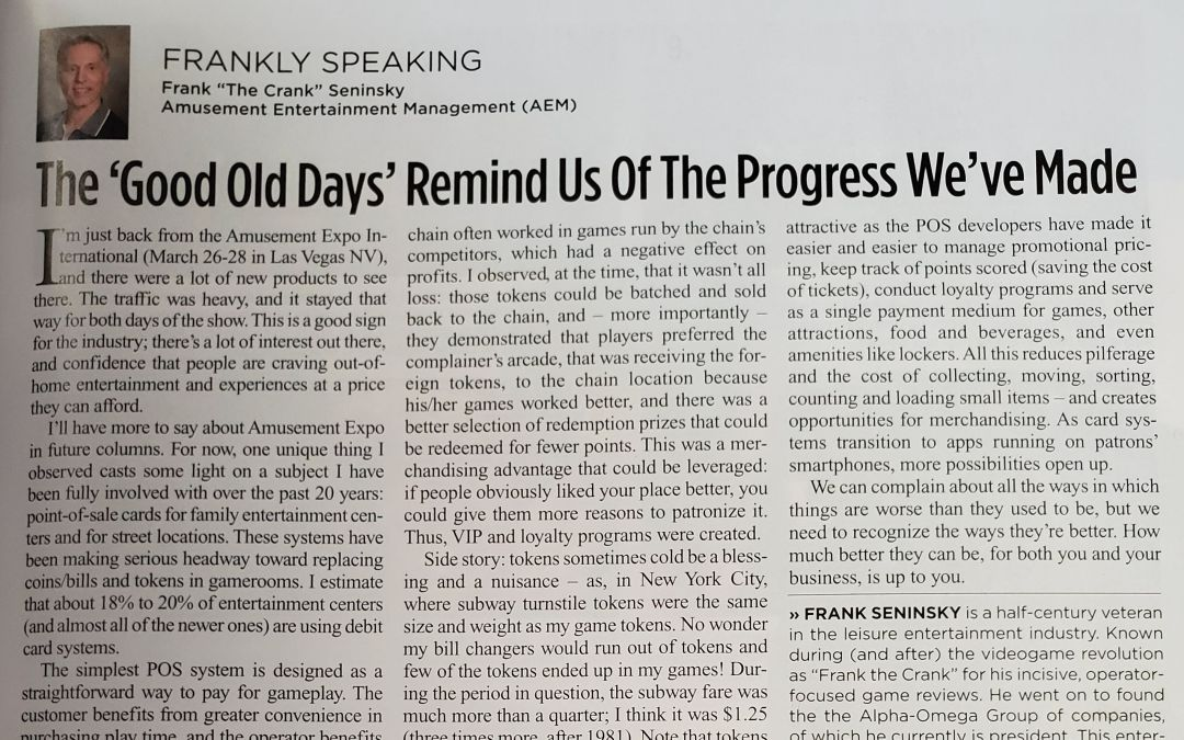 The 'Good Old Days' Remind Us Of The Progress We've Made