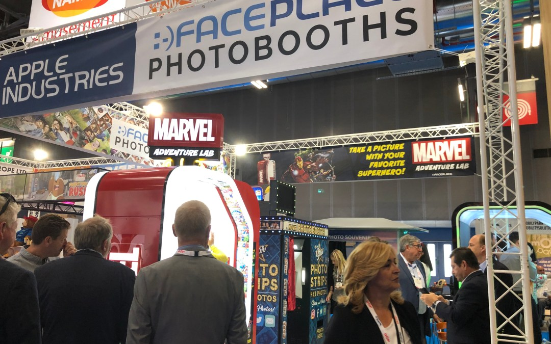 Apple's Face Place Photobooths were a Hit at IAAPA Expo Europe!