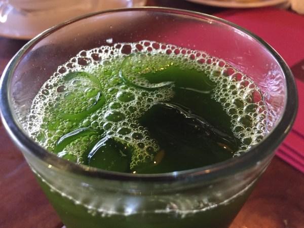 Agua fresca de chaya con lima en Merida Yucatán