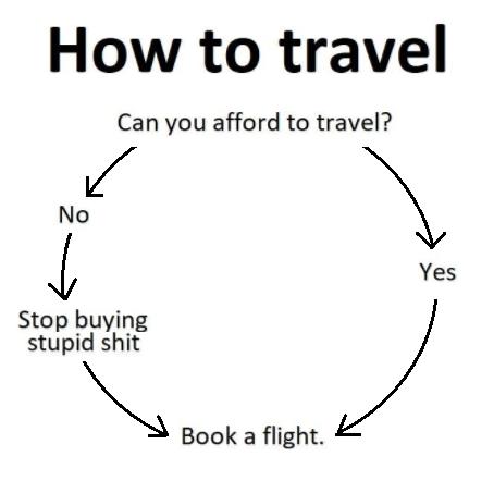 como viajar humor