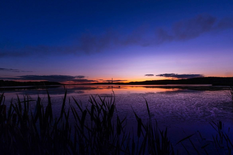 Sunset over Kelly Lake