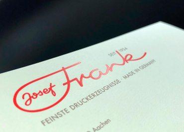 JF Briefbogen Prägung