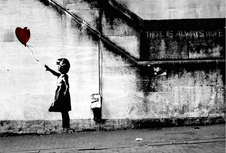 Banksy: for all your dystopian graffiti needs.