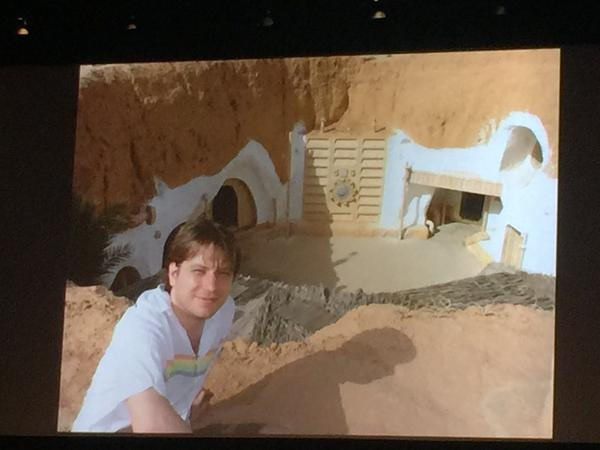 Edwards, himself a massive Star Wars fan, visited the Lars homestead in Tunisia for his 30th birthday (via the Nerdist).
