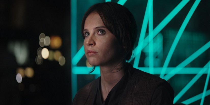 Felicity Jones as Rogue One protagonist Jyn Erso