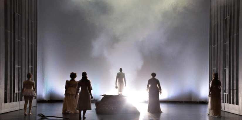 Dr. Miracle heading into the light, as his five victims look on (photo: Morten de Boer)