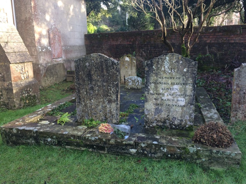 Th graves of Jane Austen's mother and sister at Chawton House