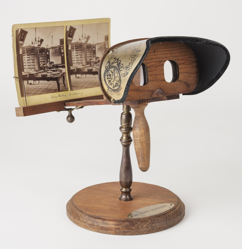 A Victorian stereoscope from the collection of the NCC Photographic Archives