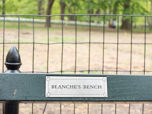Bench Plaque, Central Park, New York City