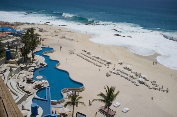 Every room has an ocean view at the Westin Los Cabos.