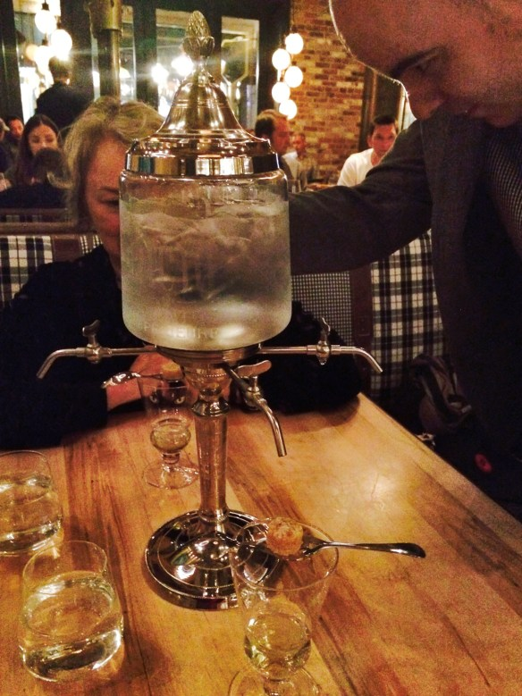 The Absinthe Fountain at Cluny Bistro.