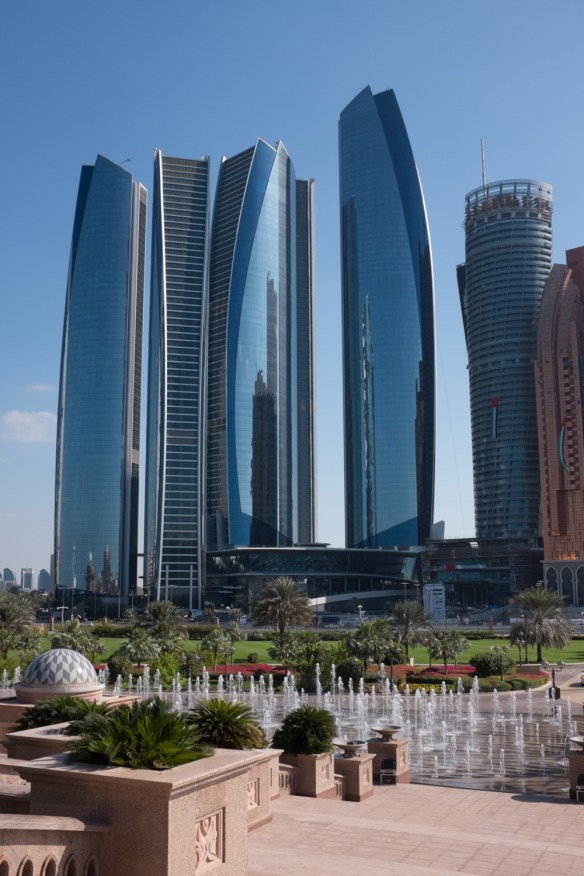 Abu Dhabi, Dubai's neighbor and fellow UAE member is engaged in its own building boom.