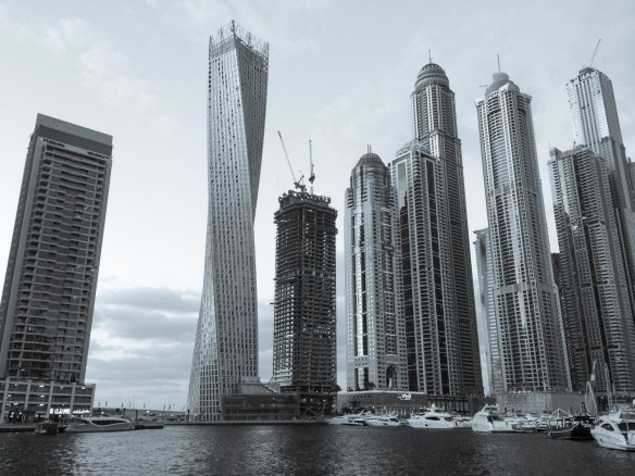 Some of the new construction in the Dubai Yacht Harbor area.